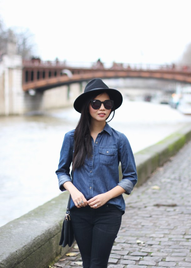 Black & Chambray OUtfit