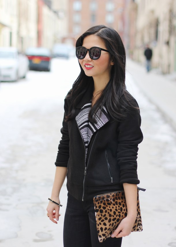 Skirt The Rules // Black & Leopard Outfit