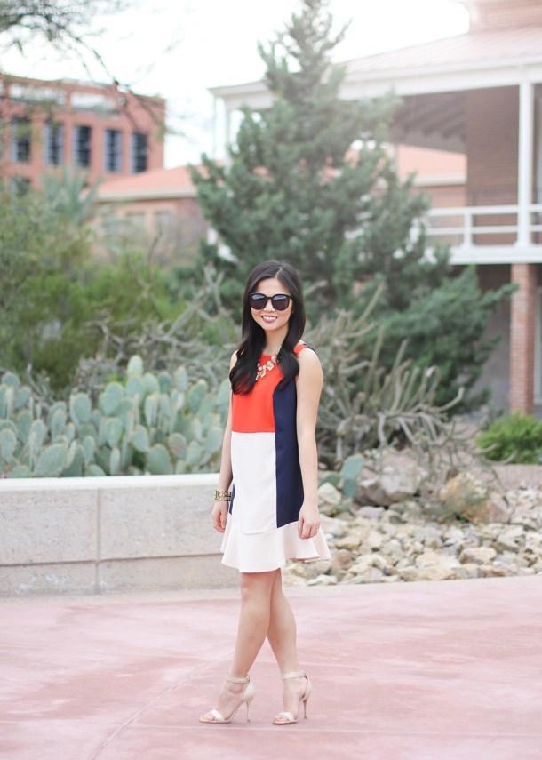 Skirt The Rules // Colorblock Dropwaist Dress