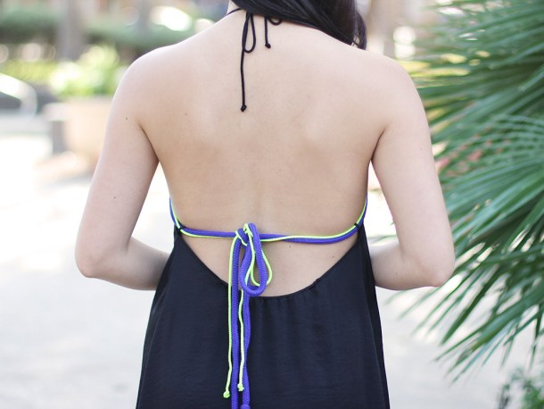 Skirt The Rules // Open Back Dress with Neon Straps
