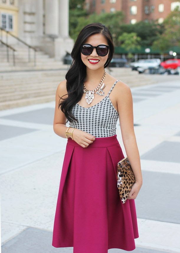 Skit The Rules // Gingham Top & Midi Skirt