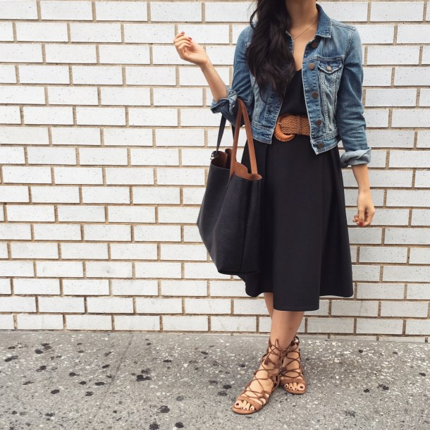 Skirt The Rules // Black and Denim Outfit