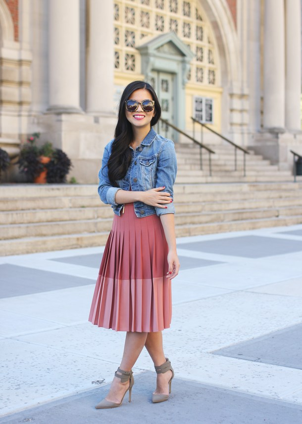 Skirt The Rules // Pink Pleated Skirt