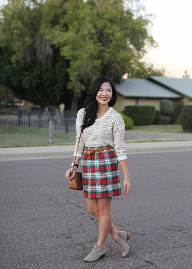 Skirt The Rules / Christmas Plaid Skirt