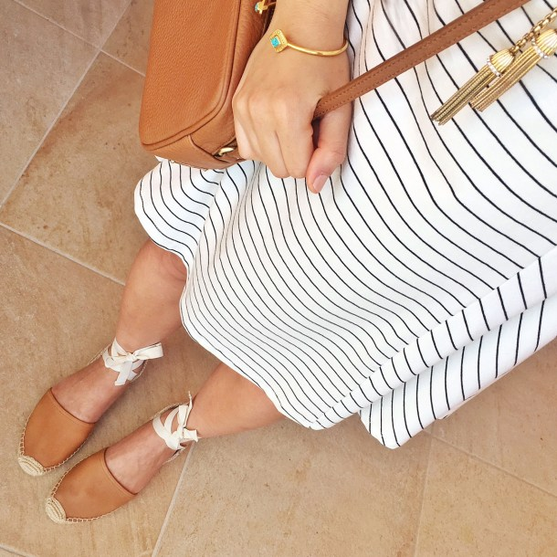 Skirt The Rules / Striped Trapeze Dress