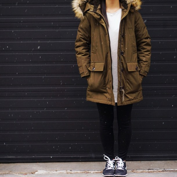 Skirt The Rules / Army Green Winter Parka