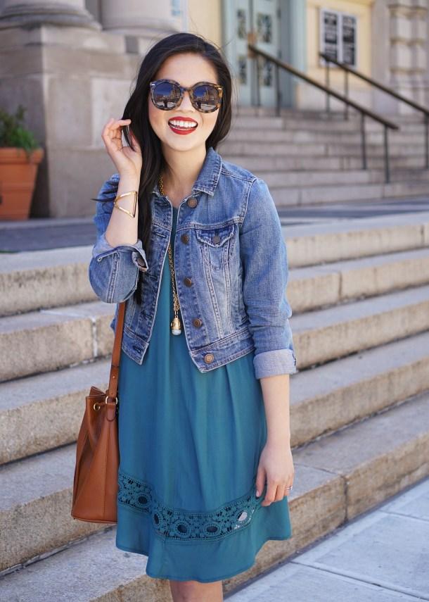 Skirt The Rules / Teal Crochet Dress