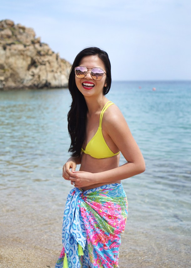 Skirt The Rules / Bright Beach Outfit