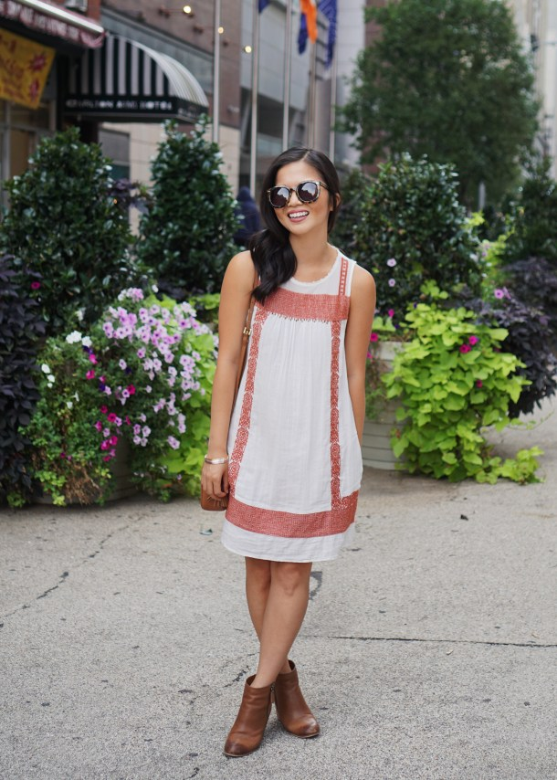 Casual Style / White Dress with Pockets