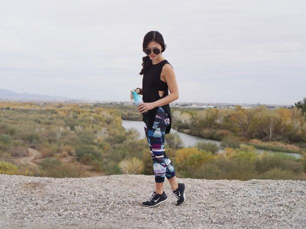 Side Slits Muscle Tank & Lived In Leggings