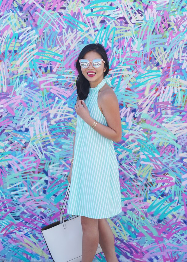 Mint & White Striped Beach Dress