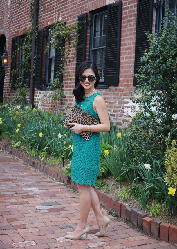 Skirt The Rules / Turquoise Lace Shift Dress