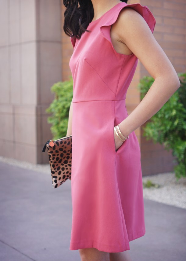 Pink Flare Dress and Leopard Dress