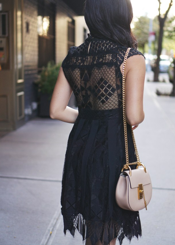 Lace Dress with Open Back