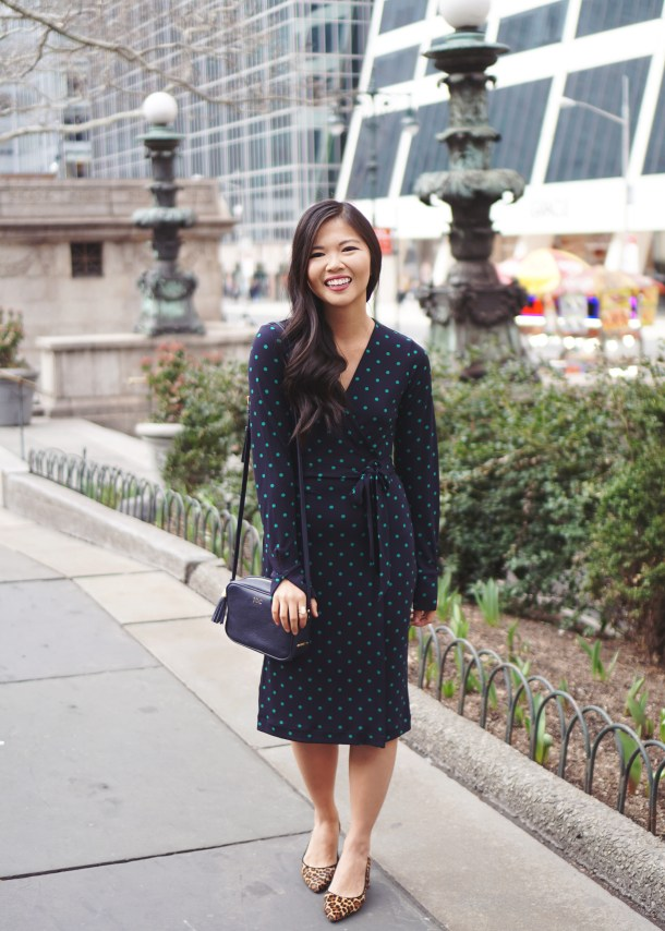 Office Style Inspiration: Polka Dot Wrap Dress