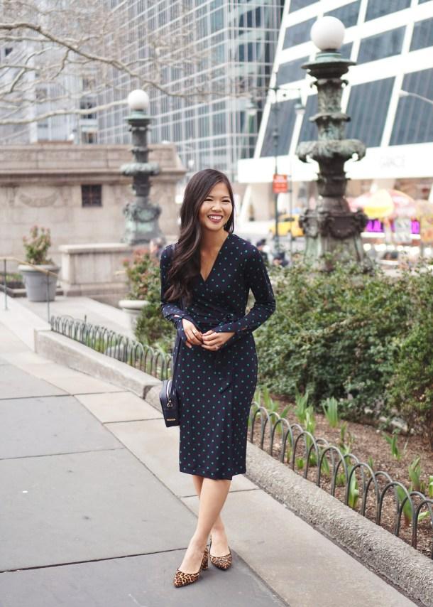 Office Style Inspiration: Polka Dot Wrap Dress