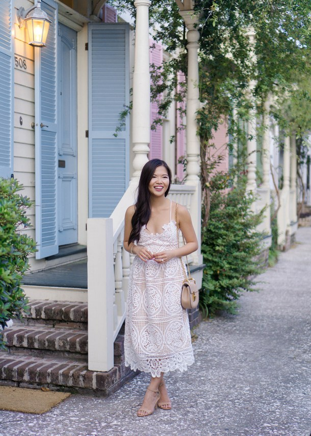 Spring Style / White Lace Dress