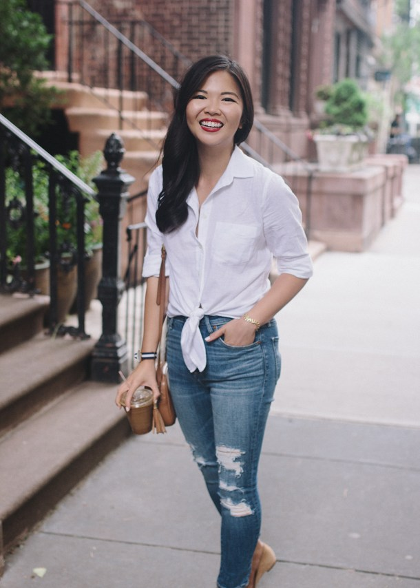 Weekend Style Inspiration / White Shirt & Skinny Jeans