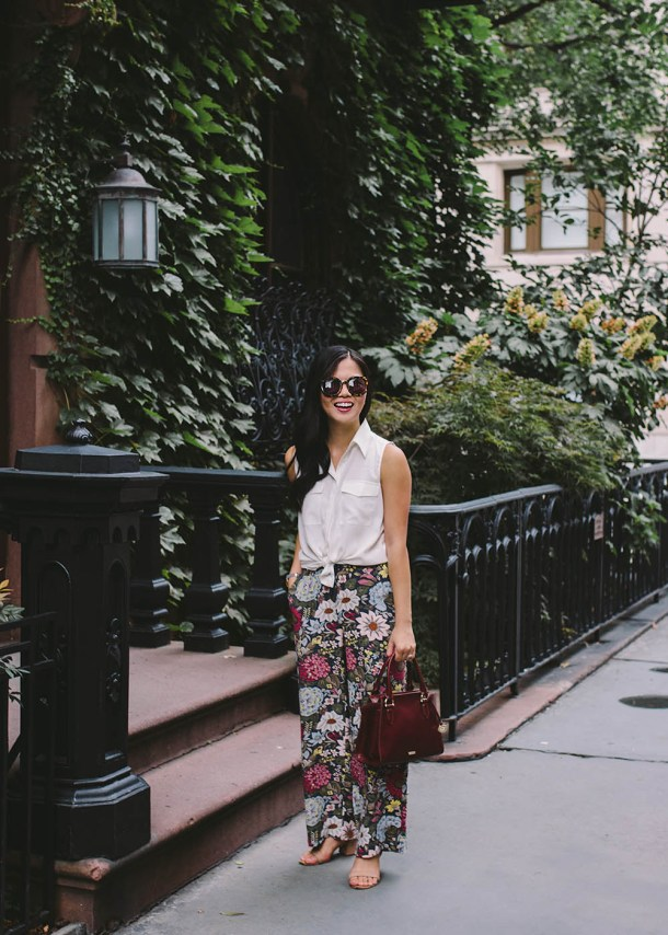 What to Wear to Work / Fall Floral Print Pants