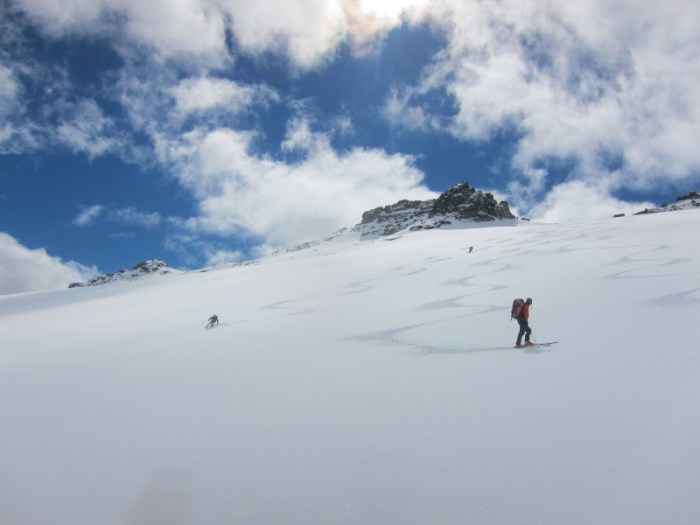 Skiiing the Frances glacier