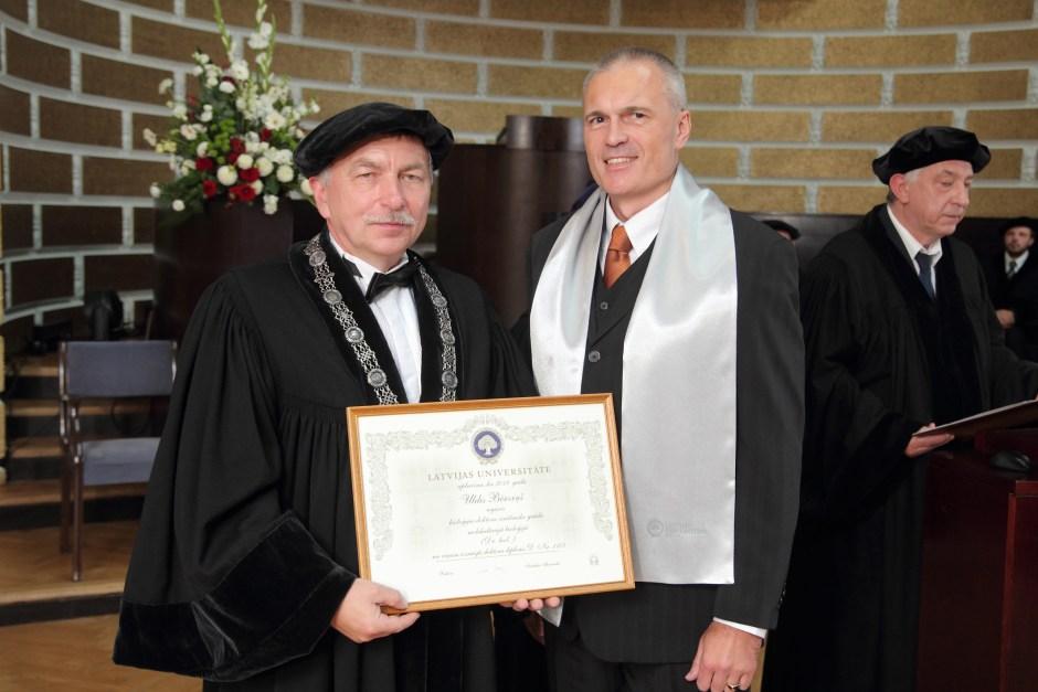 Latvijas Universitâtes 99. gadadienai veltîta LU Senâta svinîgâ sçde. Doktoru promocijas ceremonija.