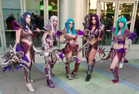Night Elves by @Encicosplay, @Idamariecosplay, @Azuracosplayofficial, @Adelinefrost