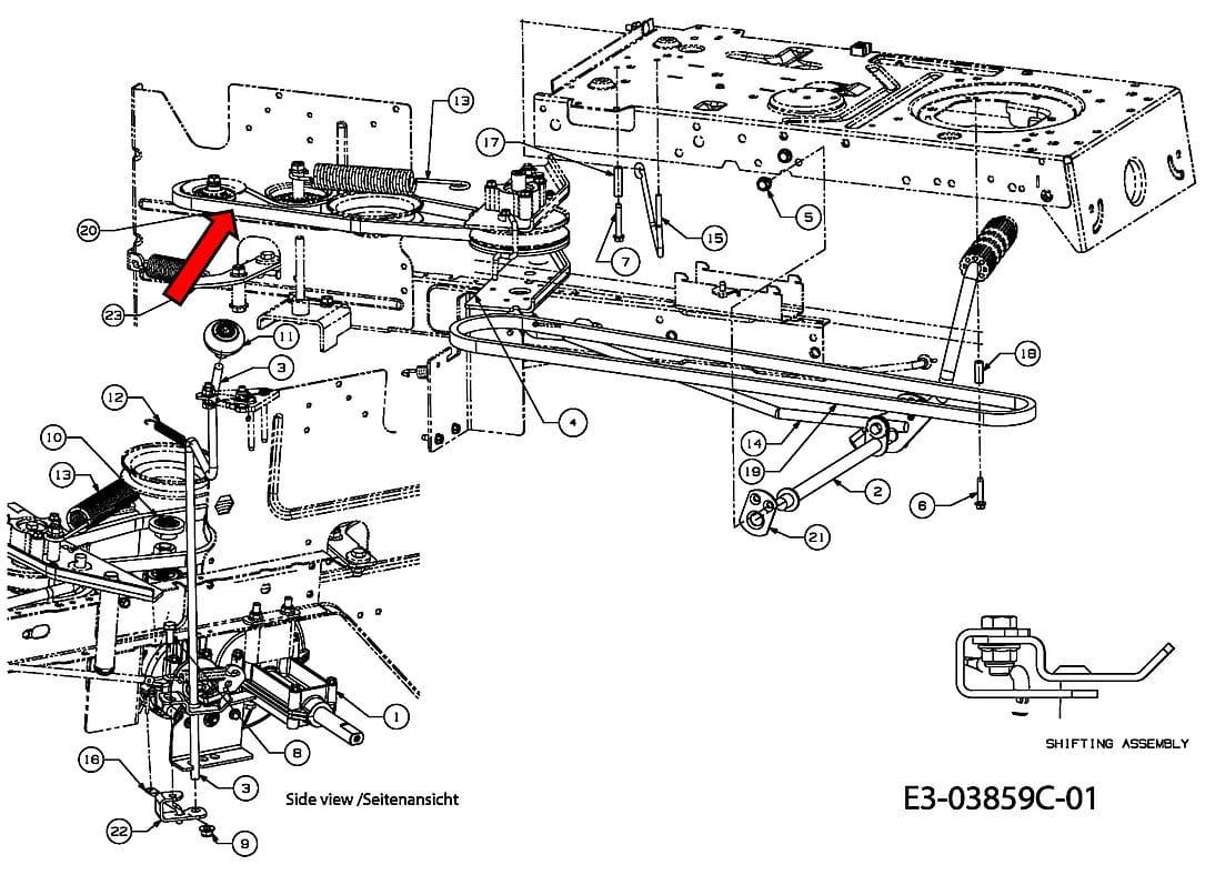 Pasek klinowy przekładni do MTD BL 155/92 Smart RE125