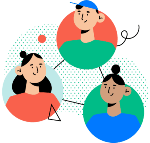 ilustracja społeczności ludzi