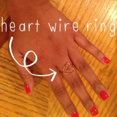 This heart wire ring was made simply with a short piece of wire!