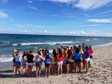 The Sunshine State has plenty of beauty, which allows chapters like Kappa Phi to do awesome events, such as a flash mob for big/little reveal on the beach!