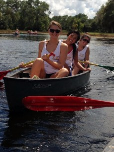 Another wonderful thing about Florida... being able to canoe and do outdoor activities. The weather even held up for us!
