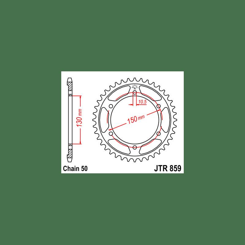 Zestaw napędowy DID ZVMX / JT Yamaha FZS 600 Fazer 98-03