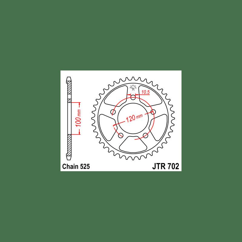 Zestaw napędowy DID ZVMX / JT Aprilia RSV 1000 / 1000R 98