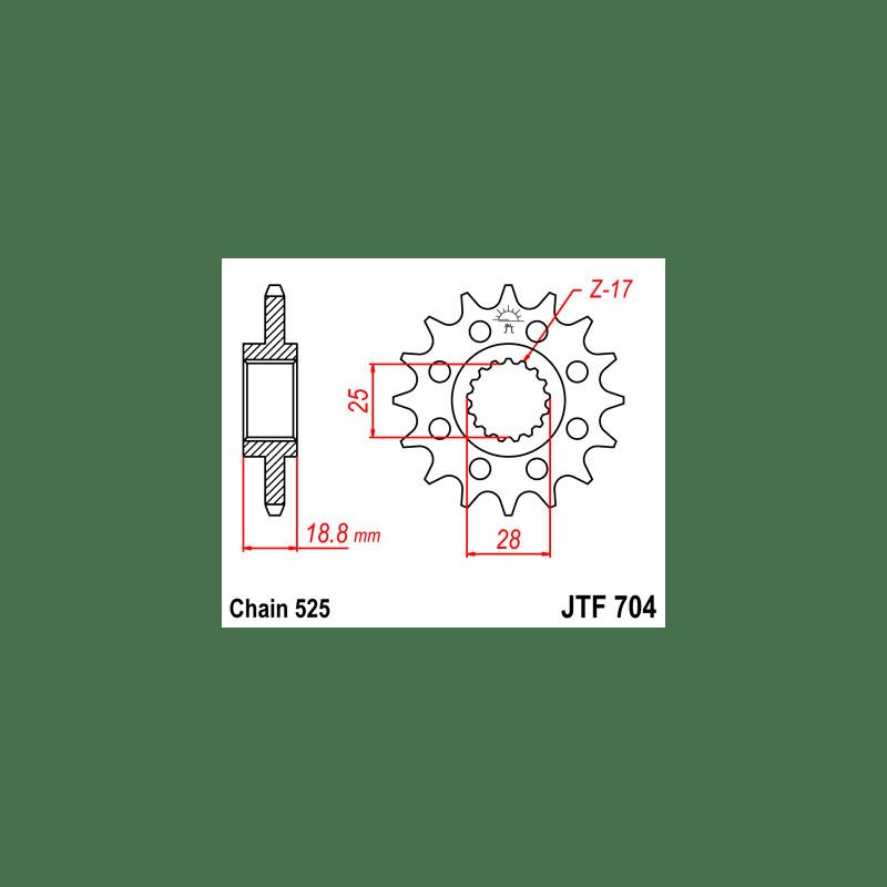 Zestaw napędowy DID ZVMX / JT Aprilia Tuono 1000 V4 R
