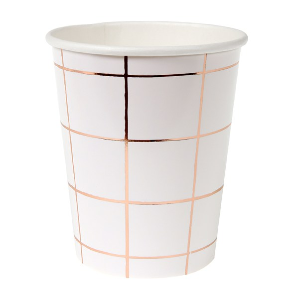 ROSE GOLD GRID PARTY CUP