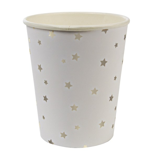 Toot Sweet Silver Star Pattern Party Cup