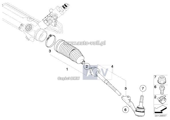 32106782252 Osłona drążka BMW E81 E84 E87 E88 E90 E91 E92