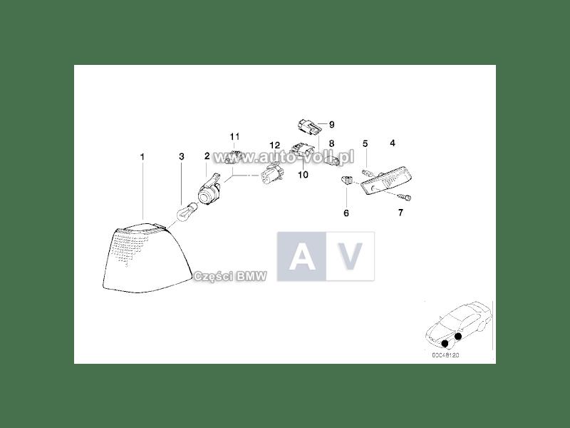 63131384100 Gniazdo żarówki kierunkowskazu BMW E36 E34 318