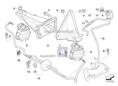 22116774620 Poduszka silnika prawa BMW E60 E61 E63 525d