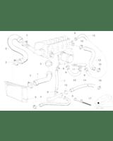 37064 Przewód układu chłodzenia BMW E36 316i 318i M40 M43