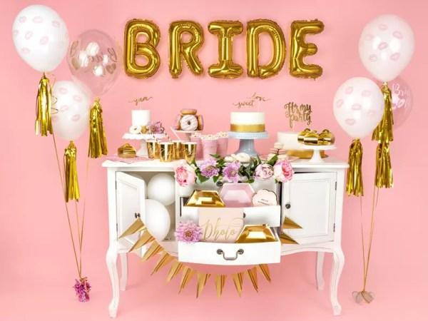 BALON BRIDE TO BE ZŁOTY 30 CM 3