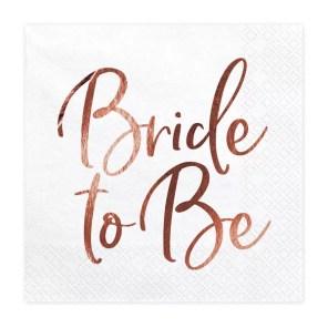 SERWETKI BRIDE TO BE RÓŻOWE ZŁOTO