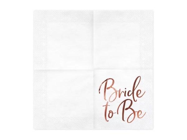 SERWETKI BRIDE TO BE RÓŻOWE ZŁOTO 2
