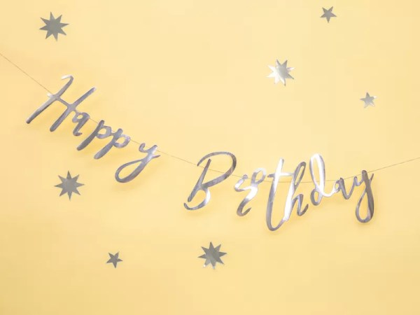 BANER HAPPY BIRTHDAY SREBRNY 4