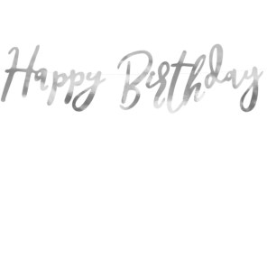 BANER HAPPY BIRTHDAY SREBRNY