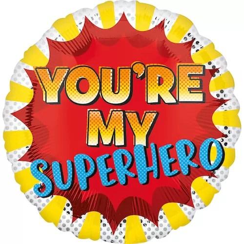 BALON FOLIOWY SUPER HERO 43 CM