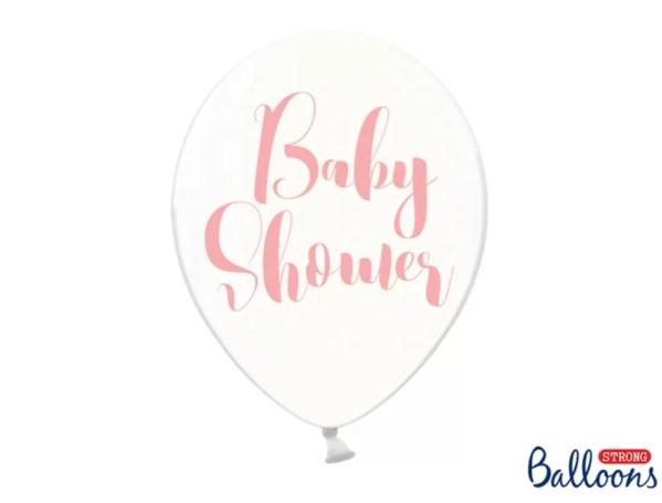BALON BABY SHOWER RÓŻOWY 30 CM 1