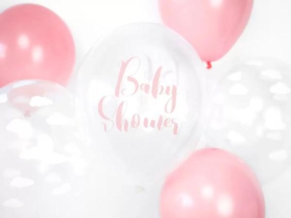 BALON BABY SHOWER RÓŻOWY 30 CM 2
