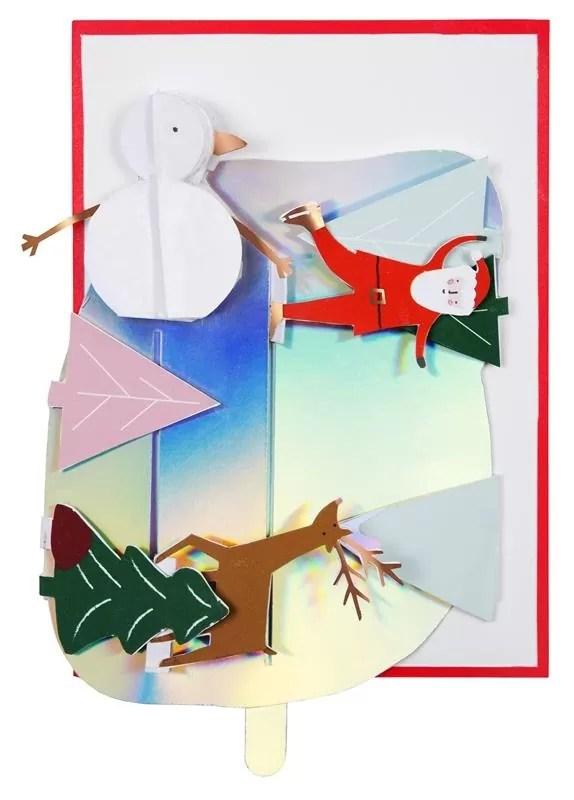 KARTKA ŚWIĄTECZNA 3D LODOWISKO MERI MERI 1