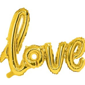 BALON LOVE ZŁOTY 73 CM